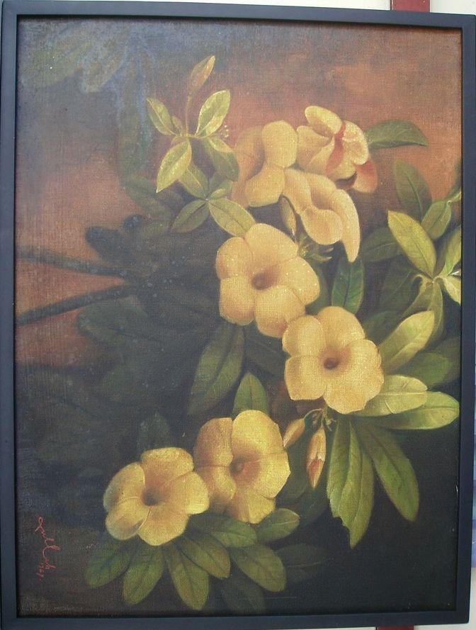 BUNGA KUNING    - oil on canvas - 60 x 80 cm - Rp 800.000,-
