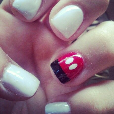 Disney nails...would be cute to do this one 1 and then French on the others