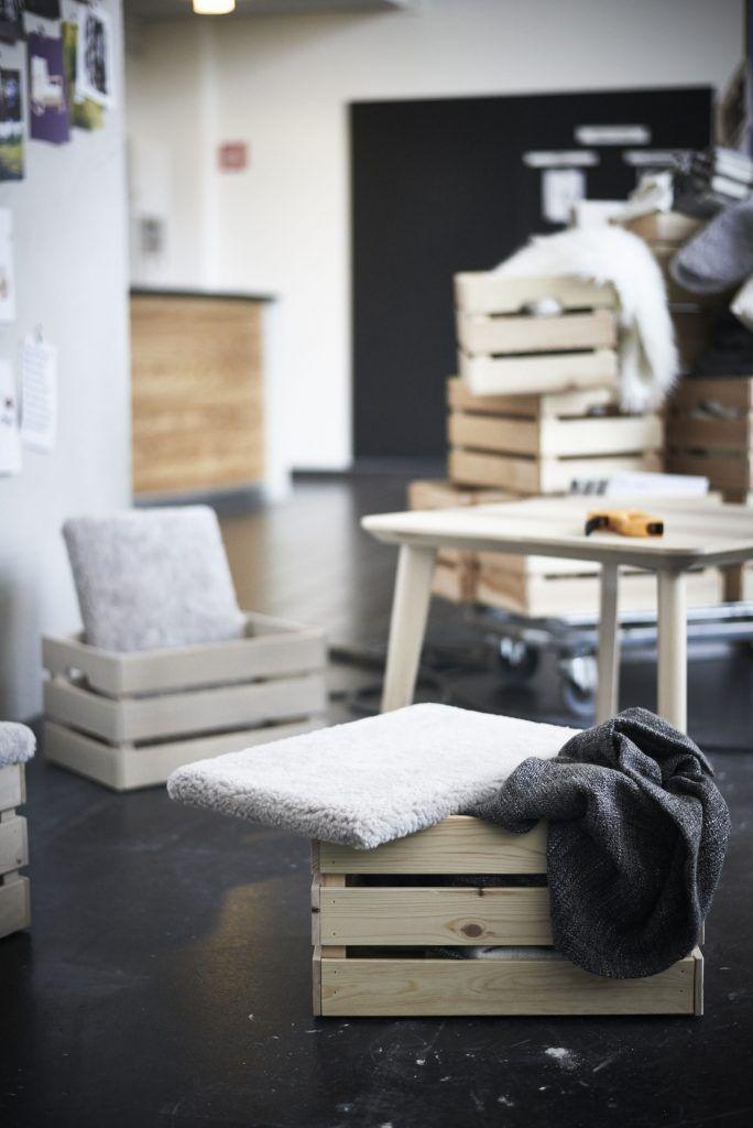 Recycler Ses Cagettes En Bois En Objets Deco Meubles Ikea