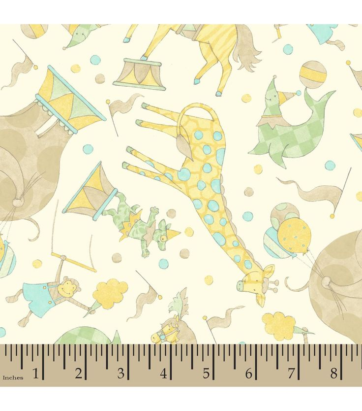 Nursery fabric susan winget big top dreams circus cotton for Nursery cotton fabric