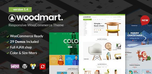 WoodMart v1.4  Responsive WooCommerce WordPress Theme  Blogger Template