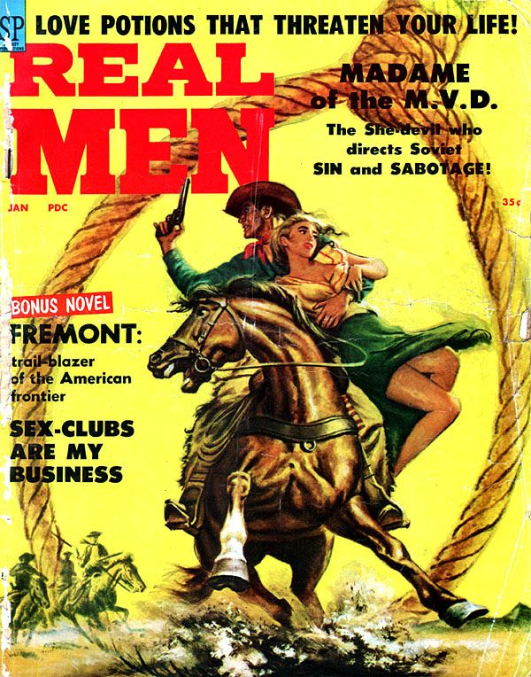 Beloved Infidel book | Retrospace: Vintage Men's Mags #19: Rugged Action Manliness