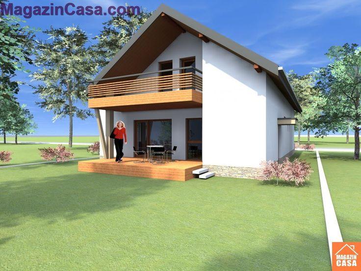 Modele si Proiecte case cu mansarda Casa B69 MagazinCasa