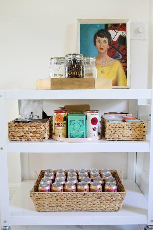 organized kitchen cart