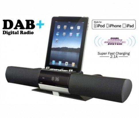 Adrenaline DAB+ Digital Radio with iPad, iPod & iPhone Dock