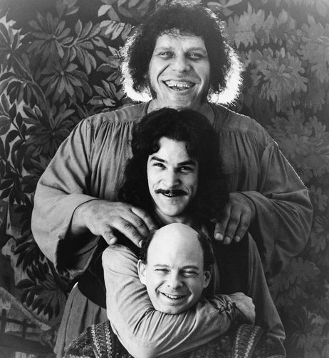 This photo provided by Twentieth Century Fox shows Andres The Giant, top, Mandy Patinkin, center, and Wallace Shawn in The Princess Bride. - NPR