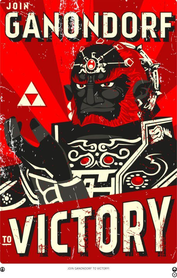 Retro video game propaganda posters