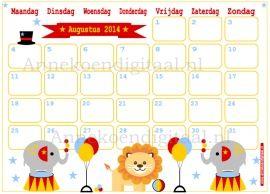 Augustus 2014 kalender