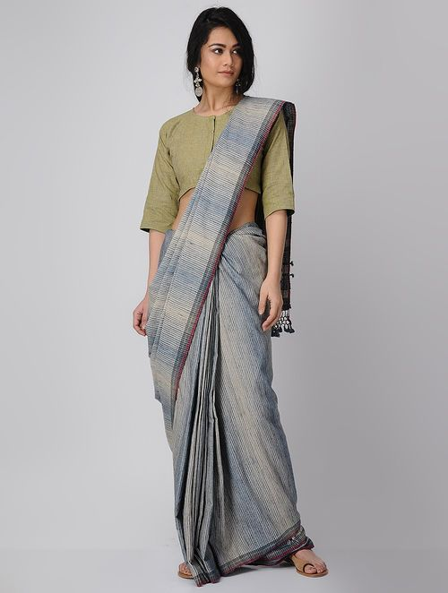dc751ee7a79d8 Green Handloom Cotton Blouse in 2019