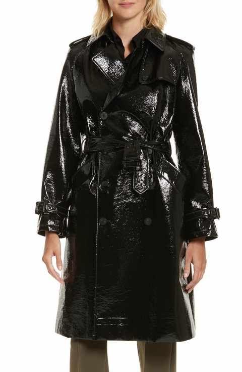 Diane von Furstenberg Patent Trench Coat