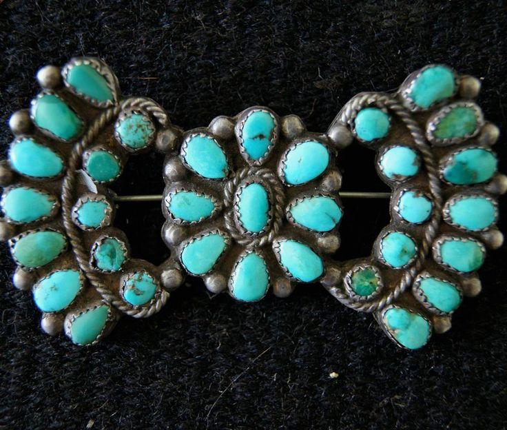 Early Superb Navajo Manta Pin Petit