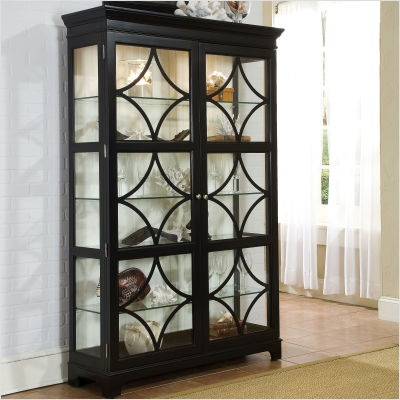 Lovely Wall Mounted Curio Cabinet with Glass Doors