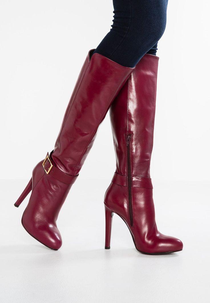 High Heel Stiefel - bordeaux. Boot ...