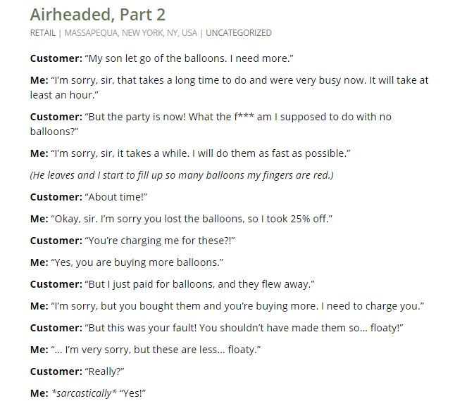 The Customer is Not Always Smart Part 16 - Imgur