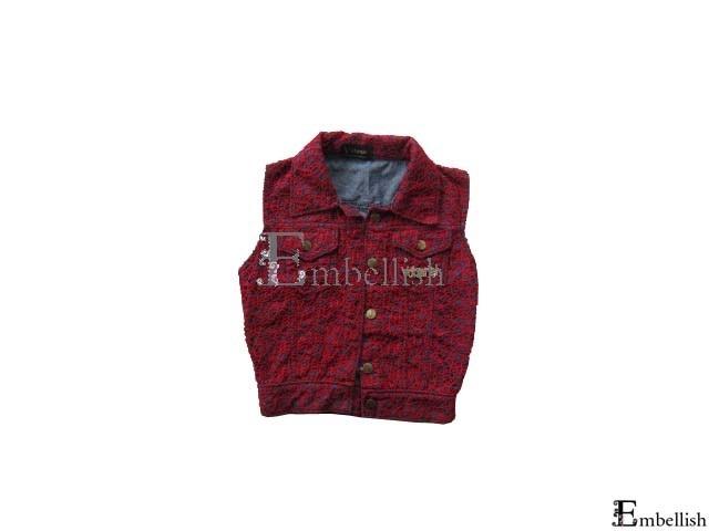 Php850 GERDA BNNX (Denim vest with top crochet)