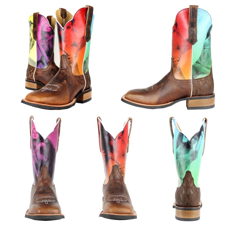Boots Have A Classic Square Toe Profile With An Exquisite Counter