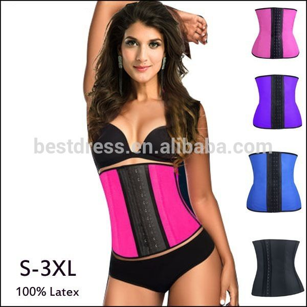 Lady Latex corset body shaper Waist Trainer Corset 100% Latex Corset Sexy Women Latex Waist Cincher Shapewear