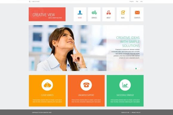 Creative View - Joomla Theme by ASDesigning on @creativemarket