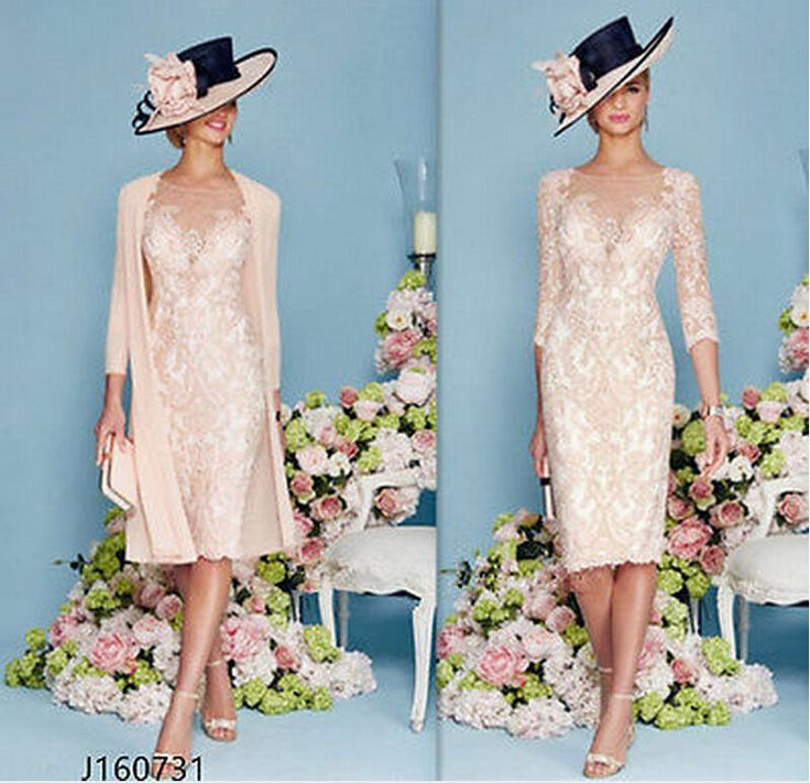 Blush Pink 2017 Lace Woman Formal Outfits Mother of The Bride Dress Suits  in Clothes, Shoes & Accessories, Wedding & Formal Occasion, Bridesmaids' & Formal Dresses | eBay!