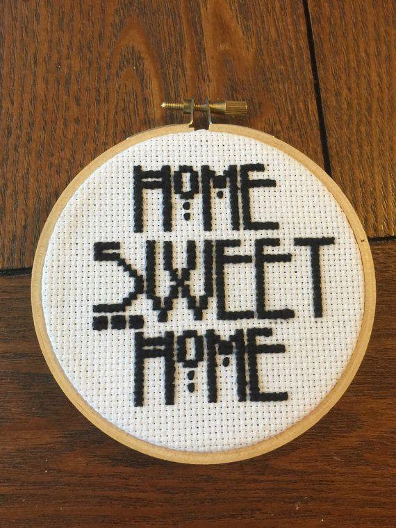 AHS Home Sweet Home Cross Stitch by StitchesBySelina on Etsy