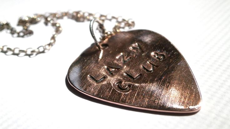 Excited to share the latest addition to my #etsy shop: Silver Guitar Pick, Copper Guitar Pick, Stamped Engraved Pick, Personalized Guitar Pick, Music Lover Gift, Musician Gift, Father's Day Gift http://etsy.me/2HNOcfs #jewellery #necklace #silver #birthday #copper