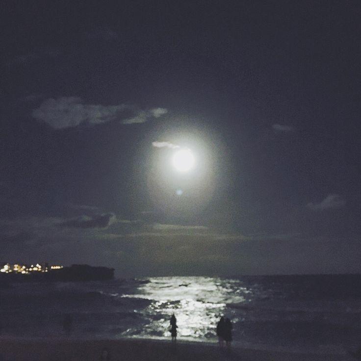 super moon(not really) @ bronte beach, sydney