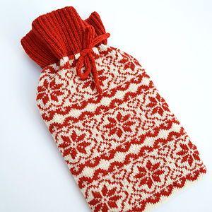 Scandinavian Knitted Hot Water Bottle Cosy
