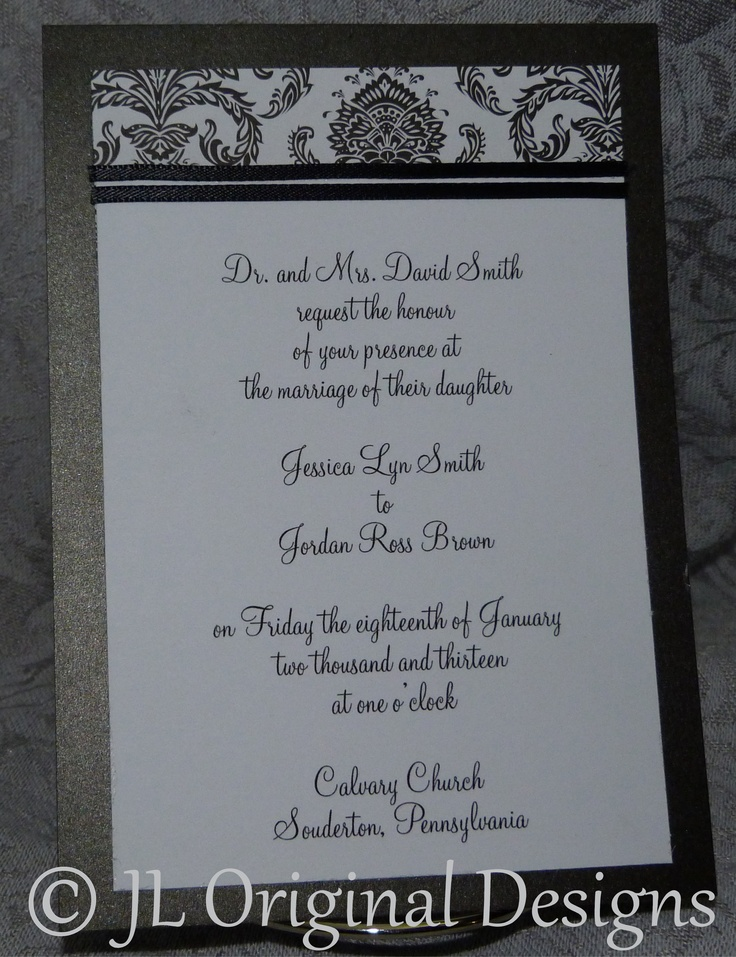 tulip wedding invitation templates%0A JLOD new for      wedding Invitation Black and white  Customize this design  to your colors
