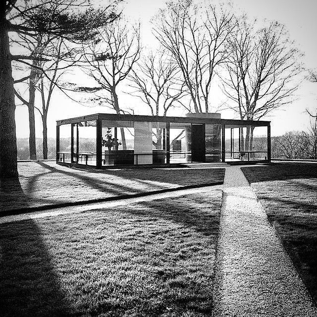 Philip Johnson's Glass House.
