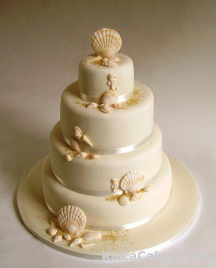 159 Seashell Wedding Cake Cakepins