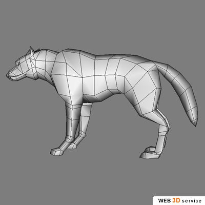 Real time wolf 3D model - click to buy