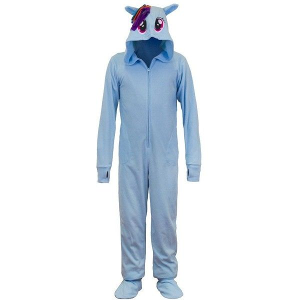 My Little Pony Rainbow Dash Onesie Pajama with Hood ($38) ❤ liked on Polyvore featuring intimates, sleepwear, pajamas, hooded pjs, my little pony sleepwear, my little pony pajamas, my little pony pjs and my little pony