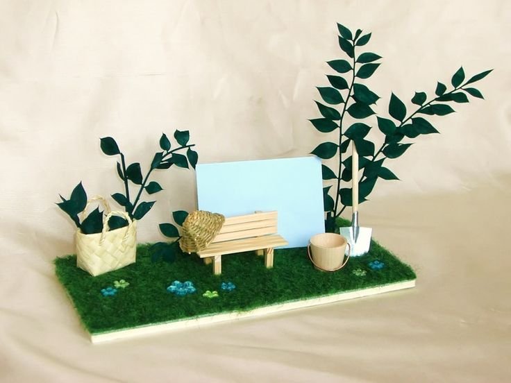 """Miniatur+Karte+""""Garten""""+für+Gutschein/Geldgeschenk+von+ml-Cérise+-+Schöner+Schenken+auf+DaWanda.com"""