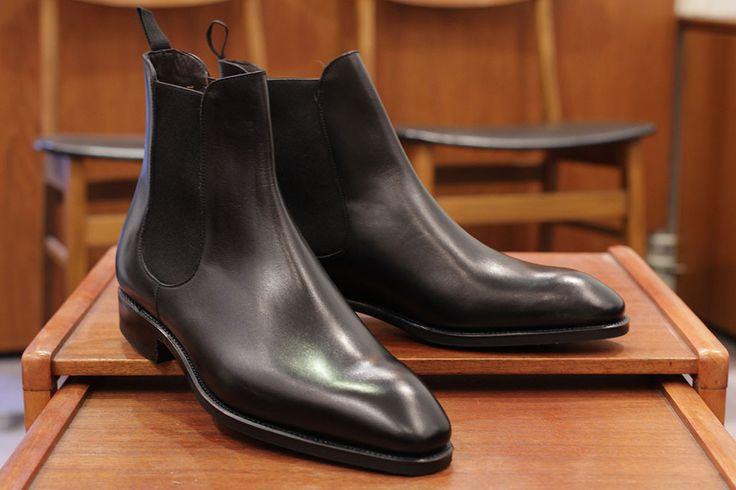 Carmina Chelsea Boot In Black Calf Men S Footwear