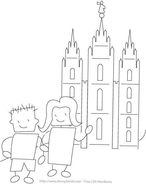 lds temple coloring pages - 83 best images about clip art for primary sharing time on