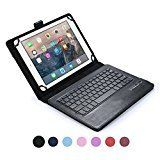 Samsung Galaxy Tab 2 10.1 keyboard case COOPER INFINITE EXECUTIVE 2-in-1 Wireless Bluetooth Keyboard Magnetic Leather Travel Cases Cover Holder Folio Portfolio  Stand GT-P5100 5110 (Black)