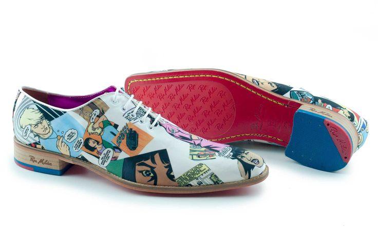 Kleurrijke schoenen met hippe cartoon print.