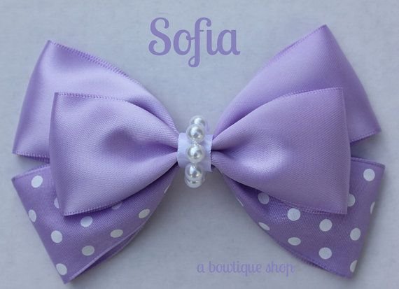 sofia hair bow by abowtiqueshop on Etsy, $6.50 sofia the first