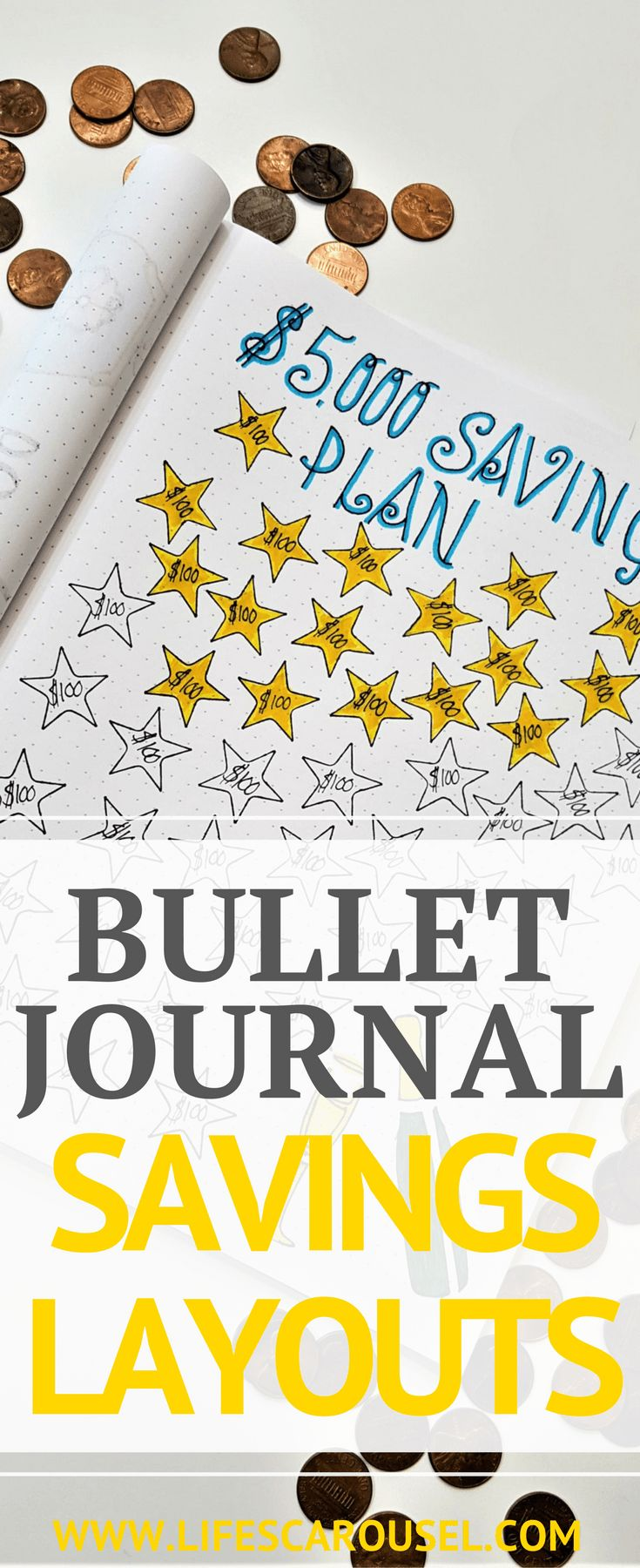 Bullet Journal Savings Tracker & More   Awesome ways to use your bullet journal to manage your budget, as a savings tracker, money layouts, spending log spread and more. Get your finances in order with your Bujo!