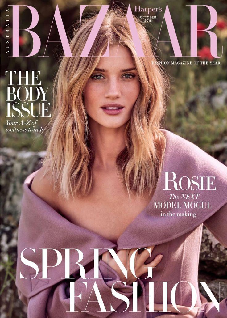 Rosie Huntington-Whiteley on Harper's Bazaar Magazine Australia October 2016 Cover