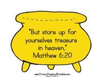 Treasures in Heaven -Bible Craft