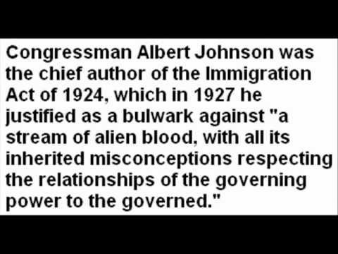 The Immigration Act of 1924 - Defending English Americans - YouTube
