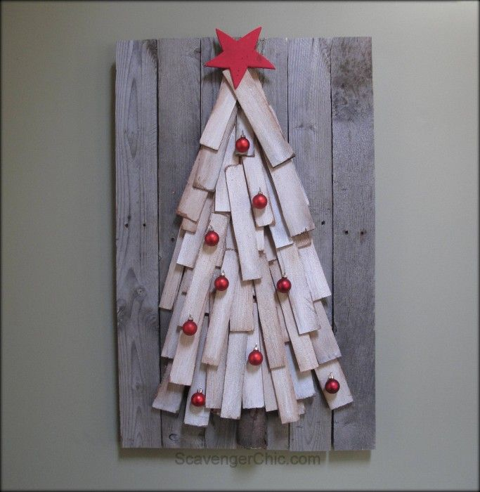 Using pallet wood and cedar shingles you can make this diy Pallet Wood Christmas tree. Easy step by step instructions.