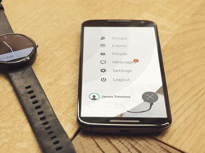 Circles side menu screen #UI