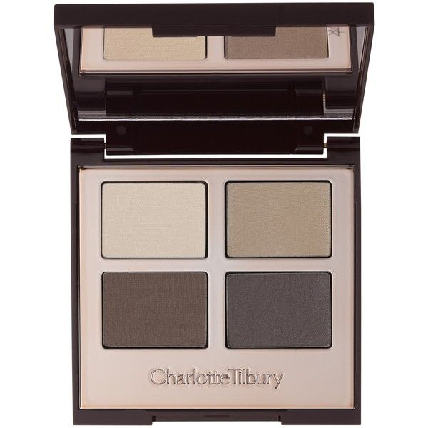 Charlotte Tilbury Luxury Palette, The Sophisticate found on Polyvore featuring beauty products, makeup, eye makeup, eyeshadow, beauty, shimmer eyeshadow, blender brush, palette eyeshadow, blending brush eyeshadow and blending brush