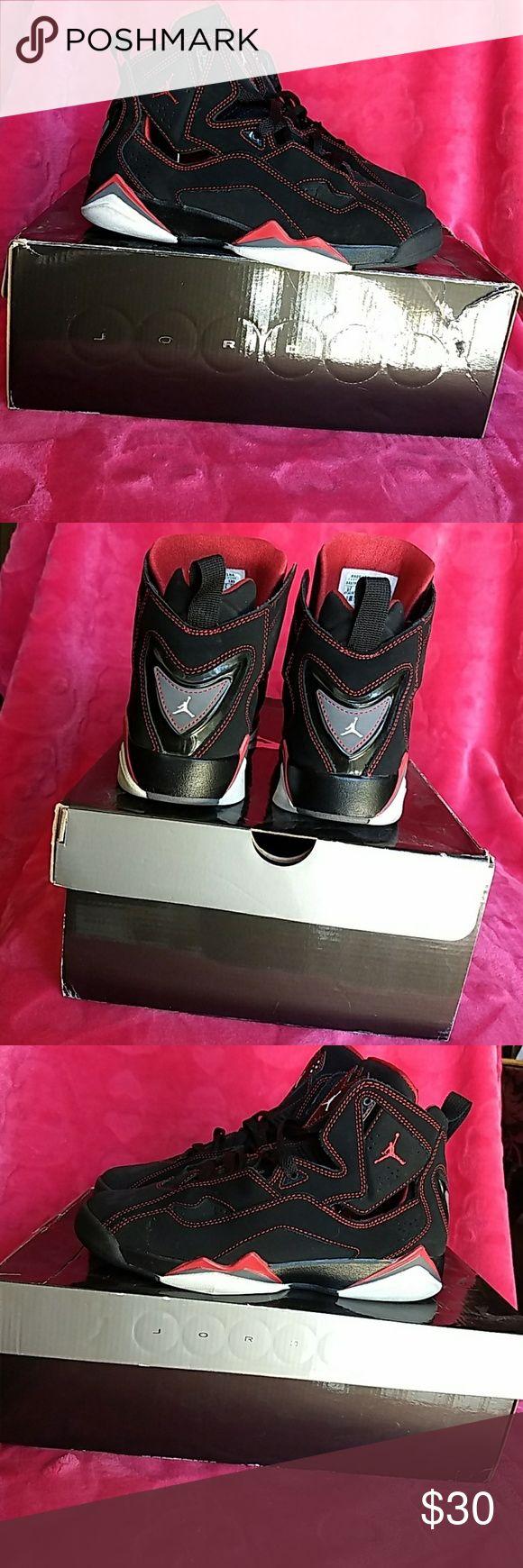 Jordan True Flight 6Y Used condition black suede jordan true flights. 6Y will fit 8 womens. Jordan Shoes Sneakers