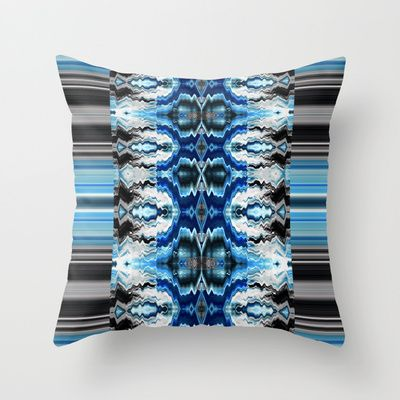Sela Blue Pillow by Nina May Designs for #society6 #homedecor
