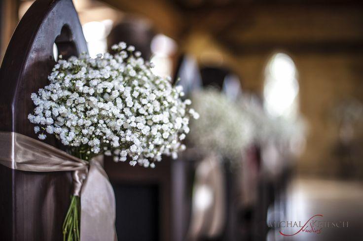 Church Pew Decorations Flowers Ribbon Lilac Vintage Wedding