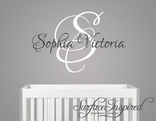 Name Wall Decal - Sophia Victoria Monogram Wall Decals for Nursery | Adorable Nursery Wall Decals and Wall Stickers