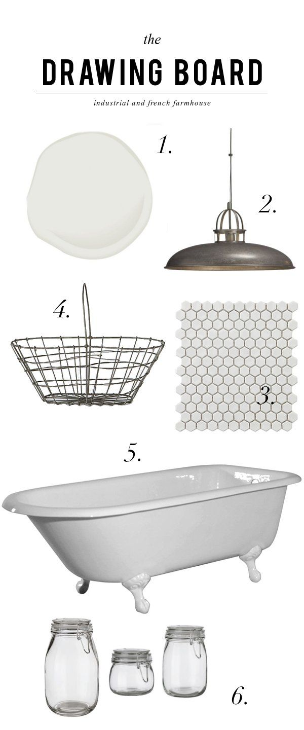 All one really needs for a wonderful bathroom...industrial & french farmhouse elements